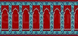 Seccadeli Cami Halısı Kiremit - GH 2010