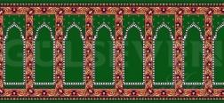 Seccadeli Cami Halısı Yeşil - GH 2010